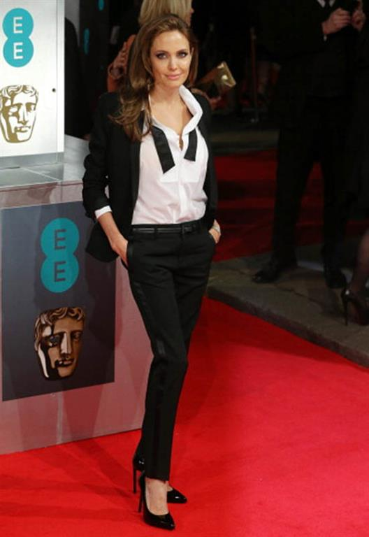 Angelina Jolie at the EE British Academy Film Awards