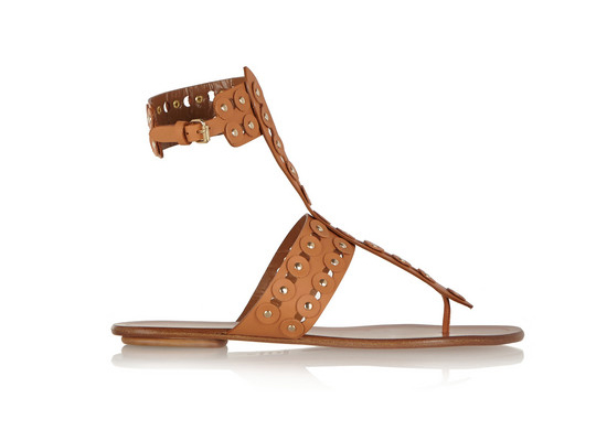 Aquazzura Rebel Studs cutout leather sandals
