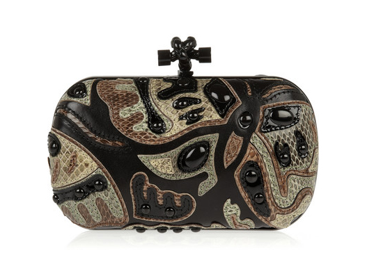 Bottega Veneta The Knot patchwork ayers and leather clutch