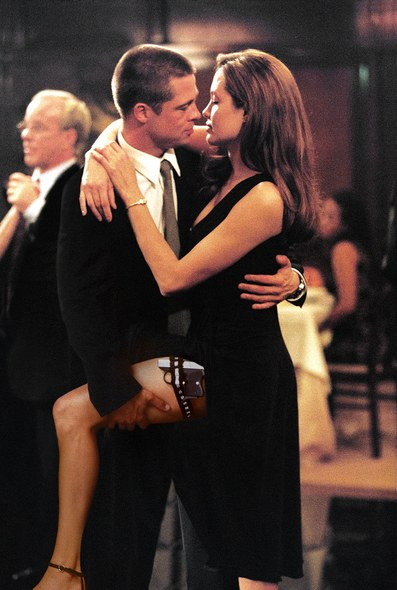 Brad and Angelina famously met on the sets of Mr. and Mrs. Smith
