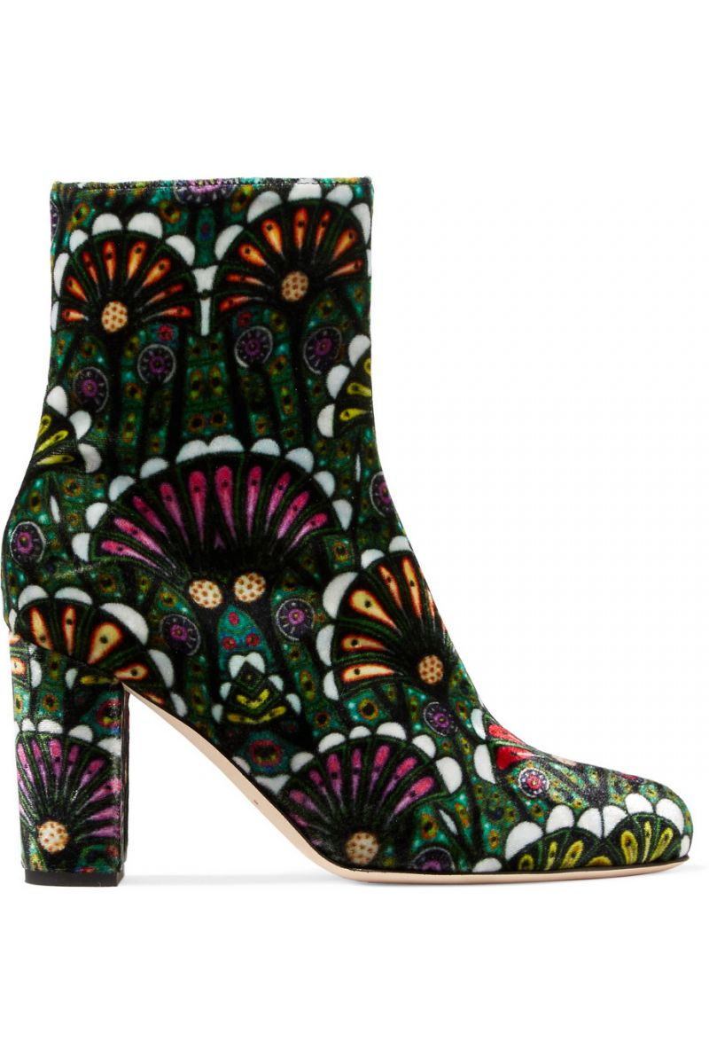 Brian-Atwood- Talise-printed- velvet-ankle-boots
