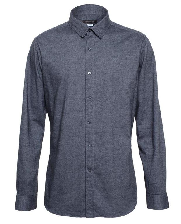 BROWNS Brushed Cotton Tailored Shirt