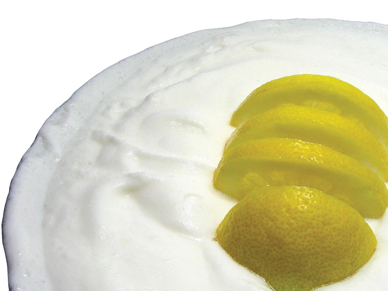 Curd and lemon