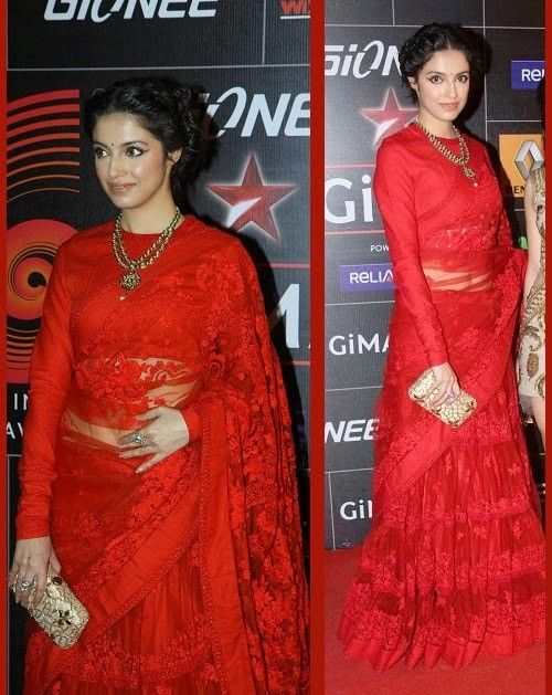 Divya Khosala Kumar looking stunning in red