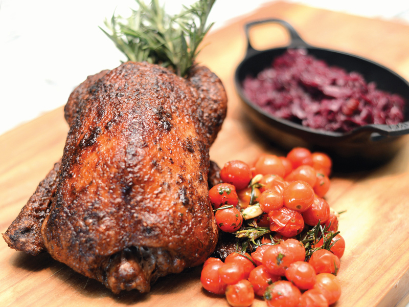 Duck-and-Braised-Red-Cabbage