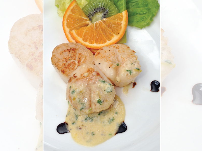 Scallops With Cilantro Gremolata and Ginger Lime Beurre Blanc