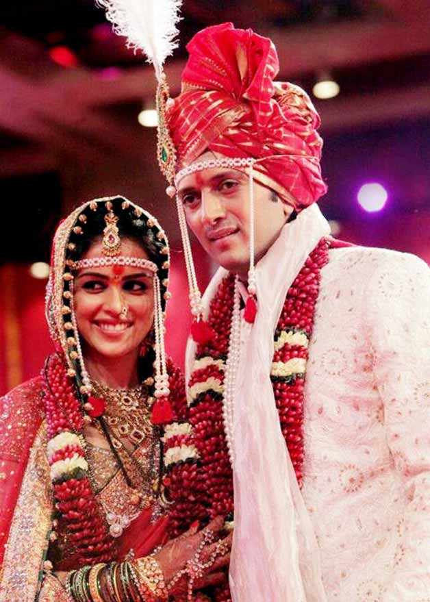 Genelia and Ritesh got married in 2012 after dating for 9 years