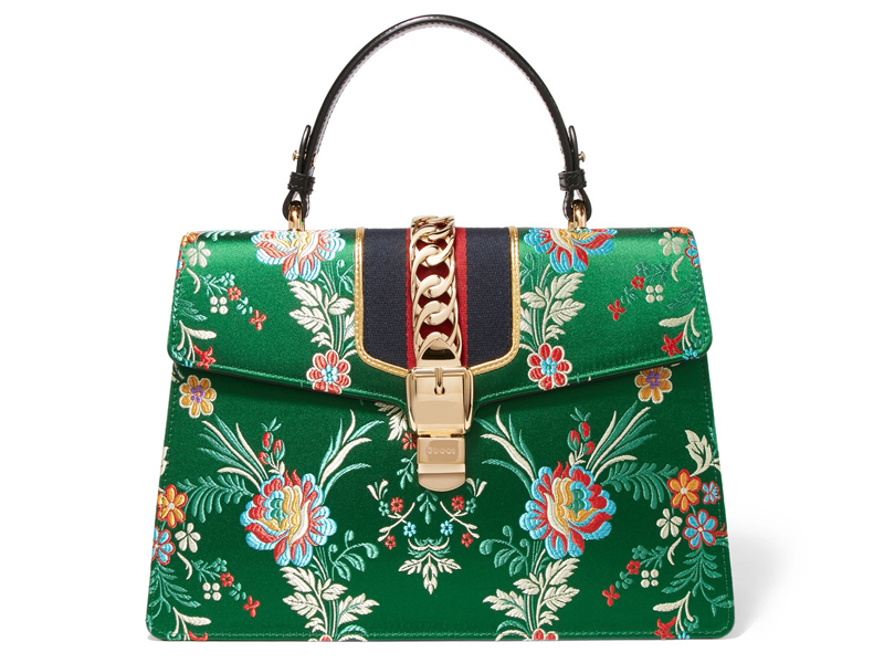 Gucci-Sylvie-large-chain-embellished-jacquard-and-leather-tote
