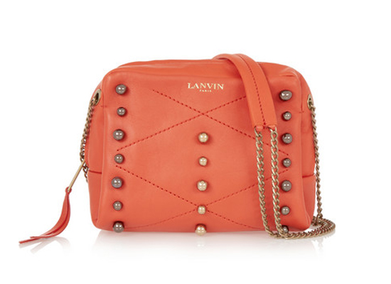 Lanvin Sugar mini studded leather shoulder bag