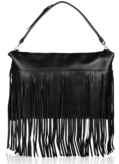 Miu Miu Fringed leather shoulder bag