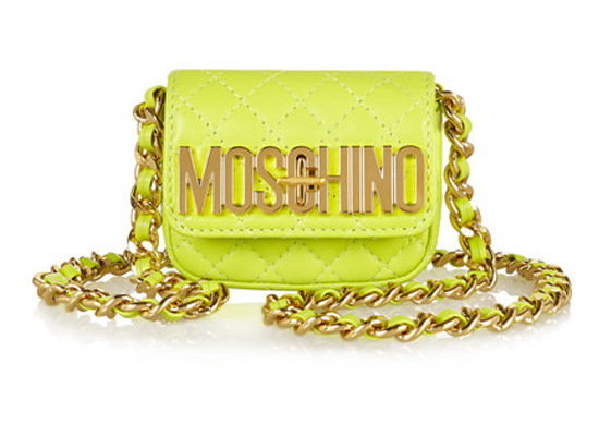 Moschino Quilted mini leather shoulder bag