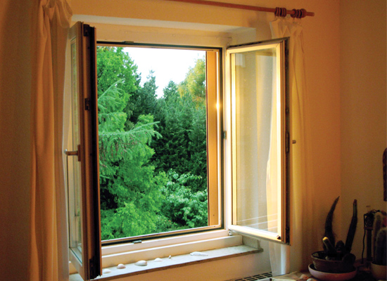 Open the windows to ventilate your home