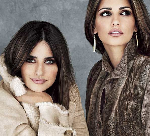 Penelope and Monica Cruz in a campaign for Mngo