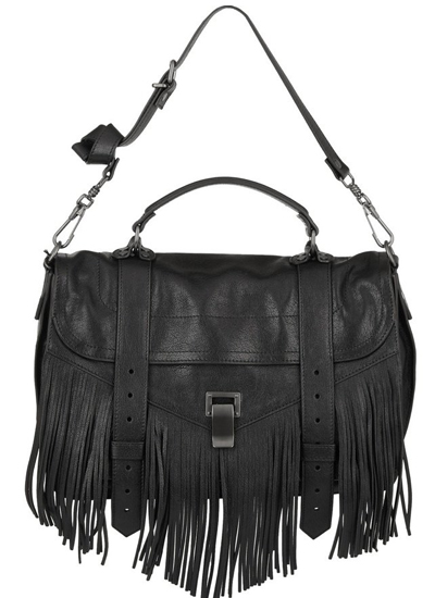 Proenza Schouler PS1 fringed medium leather shoulder bag