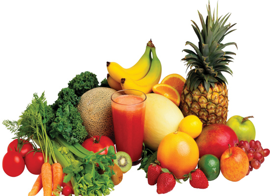 Raw fruits and vegetables must form an integral part of your diet