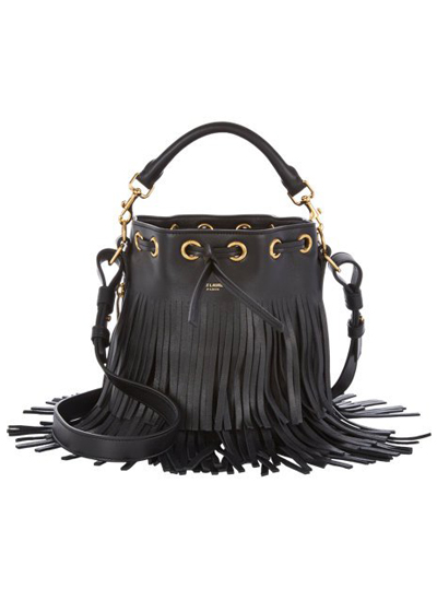 Saint Laurent Fringe Bucket Bag
