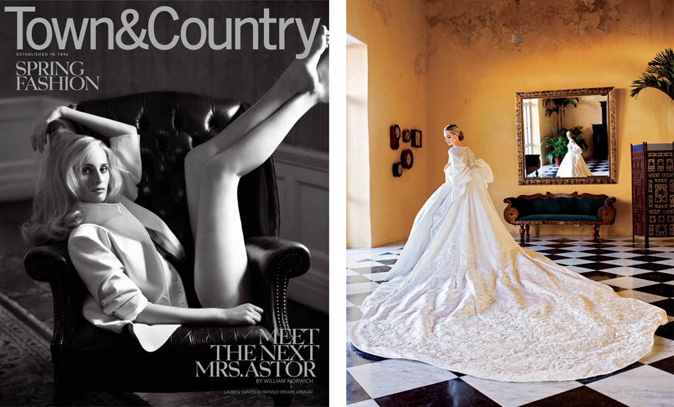 Santo Domingo as cover girl for the March 2011 issue of Town & Country