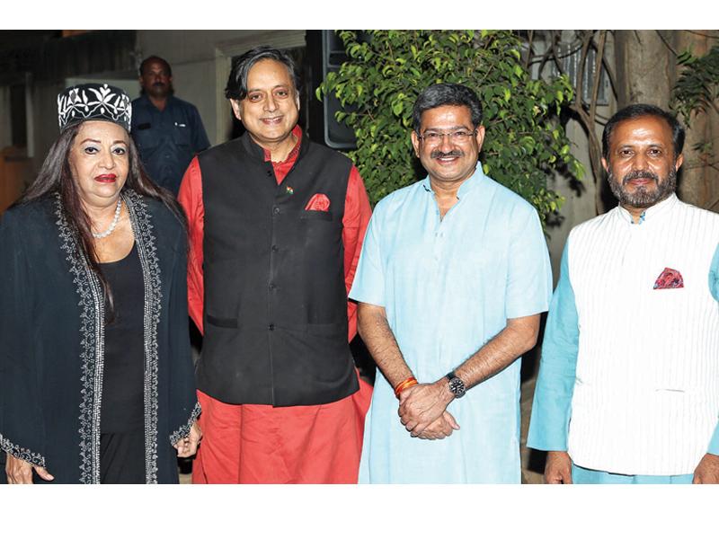 Sherry Javeri,-Shashi Tharoor- Anurag Sharma -and Madhu-Yashki