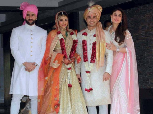 The Nawab and Begum of Pataudi on Soha Ali Khan's wedding day