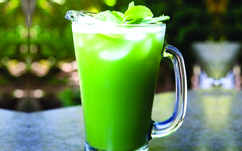 Spinach lime mint