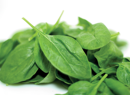Spinach and other greens