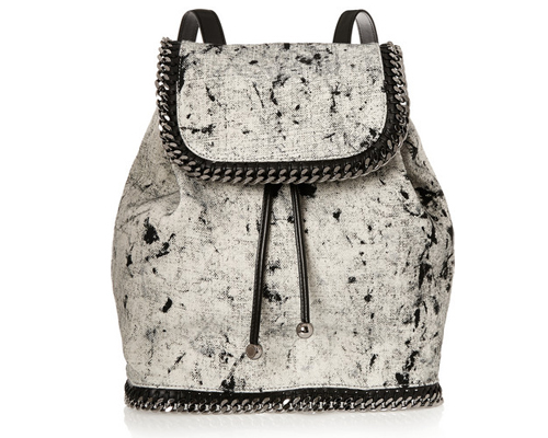 Stella McCartney The Falabella printed canvas backpack