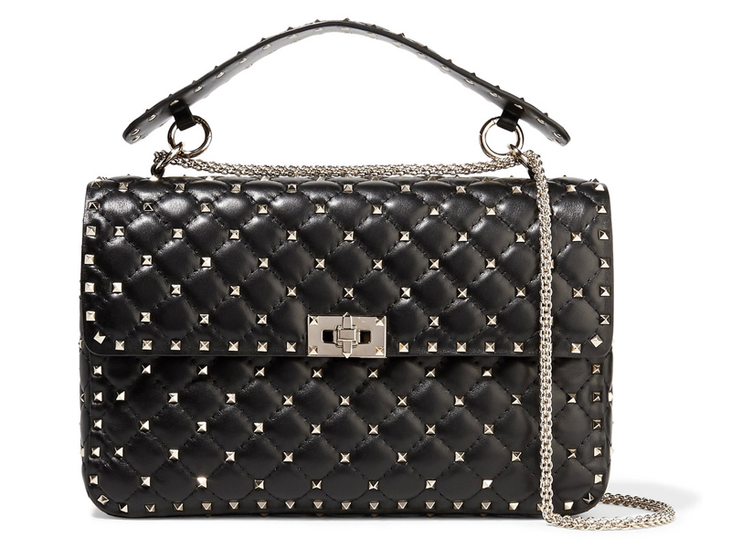 Valentino-Matelasse-large-embellished-quilted-leather-shoulder-bag