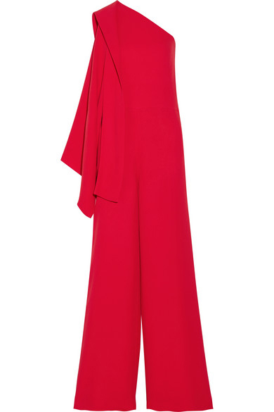 Valentino One-shoulder cady jumpsuit