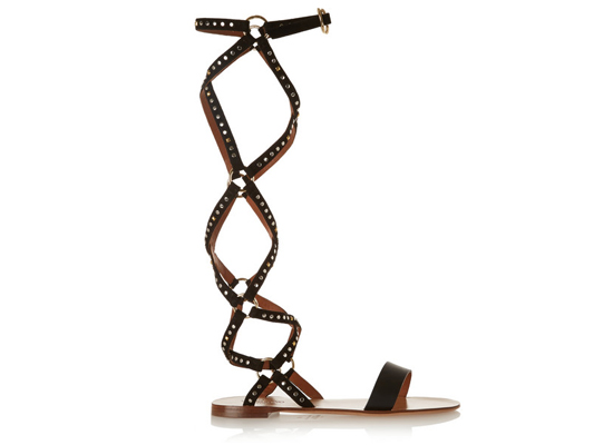 Valentino Teodora studded suede and leather sandals