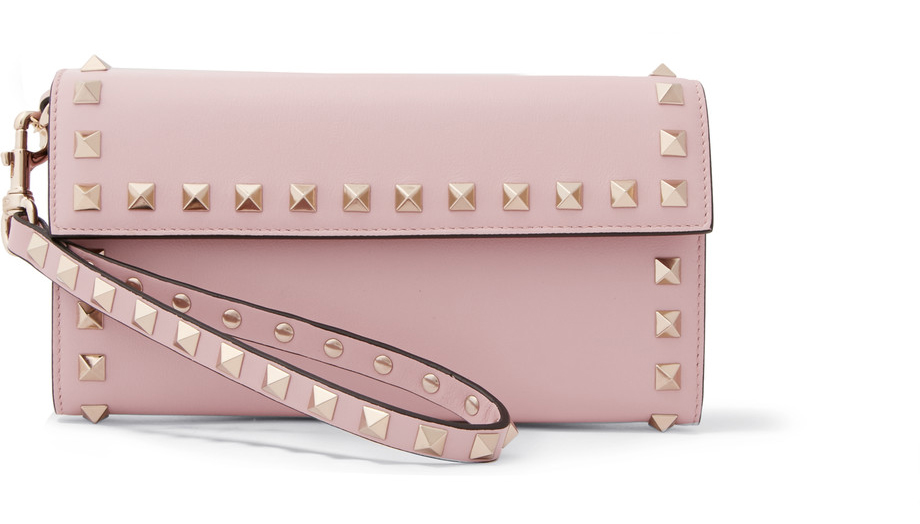 Valentino-The-Rockstud-wristlet-leather-wallet