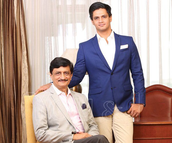 hotelier Veer Vijay Singh along with his son Suryaveer