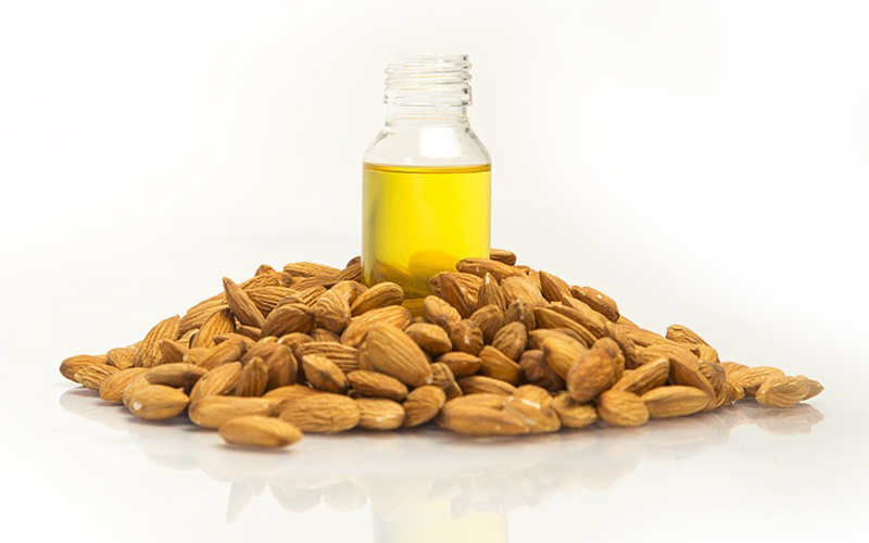 almond and oil