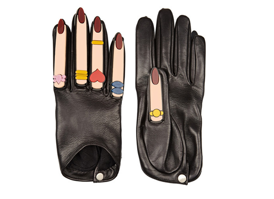 Finds + YAZBUKEY x Causse Gantier Plexiglas®-embellished leather gloves