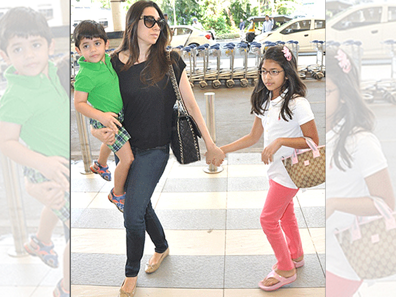 Karisma Kapoor with kids