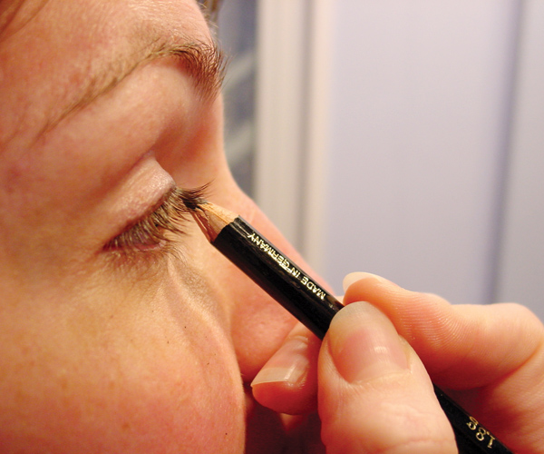 Another quick fix for when you're out of liquid liner is to use pencil