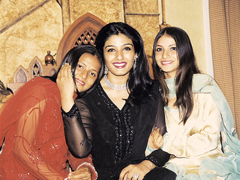 Raveena Tandon with her daughters