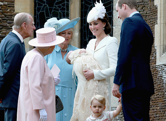 royal family were there including William's father Prince Charles and his wife Camilla