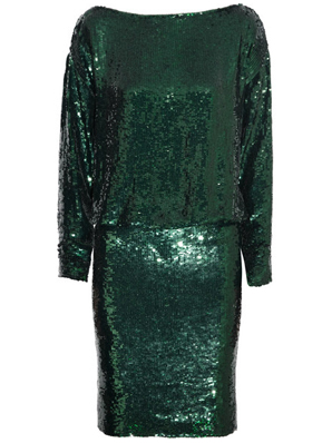 Givenchy Sequined silk-crepe dress in emerald