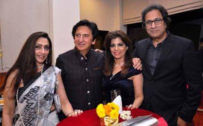 Leena Singh Kailash Surendranath Bina Aziz and Talat Aziz