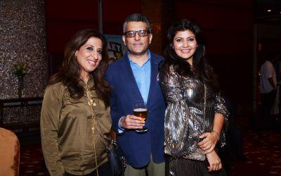Ahish Bhasin, Sheena Jain with a friend