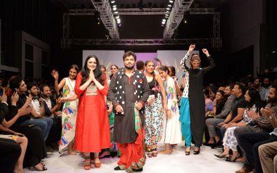 Babul Supriyo walked on the ramp for designer Agni Mitra Paul