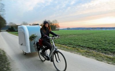 This Bicycle-Towed Mini RV Fits Four People