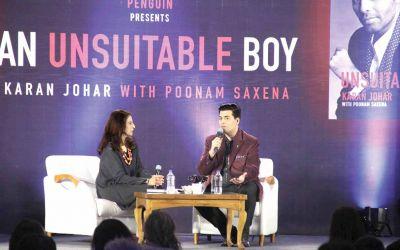 Shobhaa De and Karan Johar