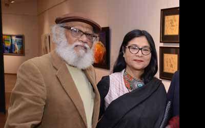 Jatin Das with Jayasri Burman