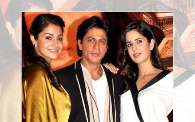 Anushka Sharma, Shahrukh Khan, and Katrina Kaif