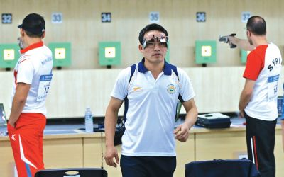 Jitu gives India its first gold at Shooting World Cup