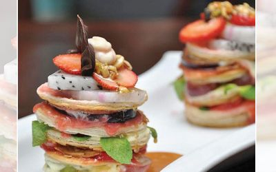 Mille Feuille of Exotic Fruits