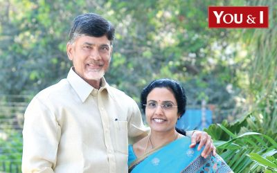 Chandrababu Naidu-with-wife-Bhuvaneswari-Ahead