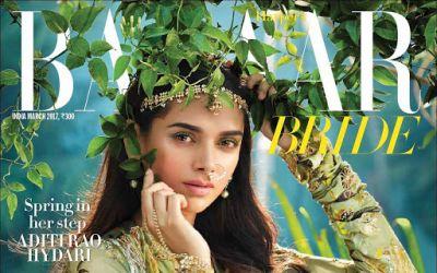 Aditi Rao Hydari- Cover of Harpers Bazaar Bride Magazine March 2017
