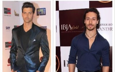 tiger and hrithik collage